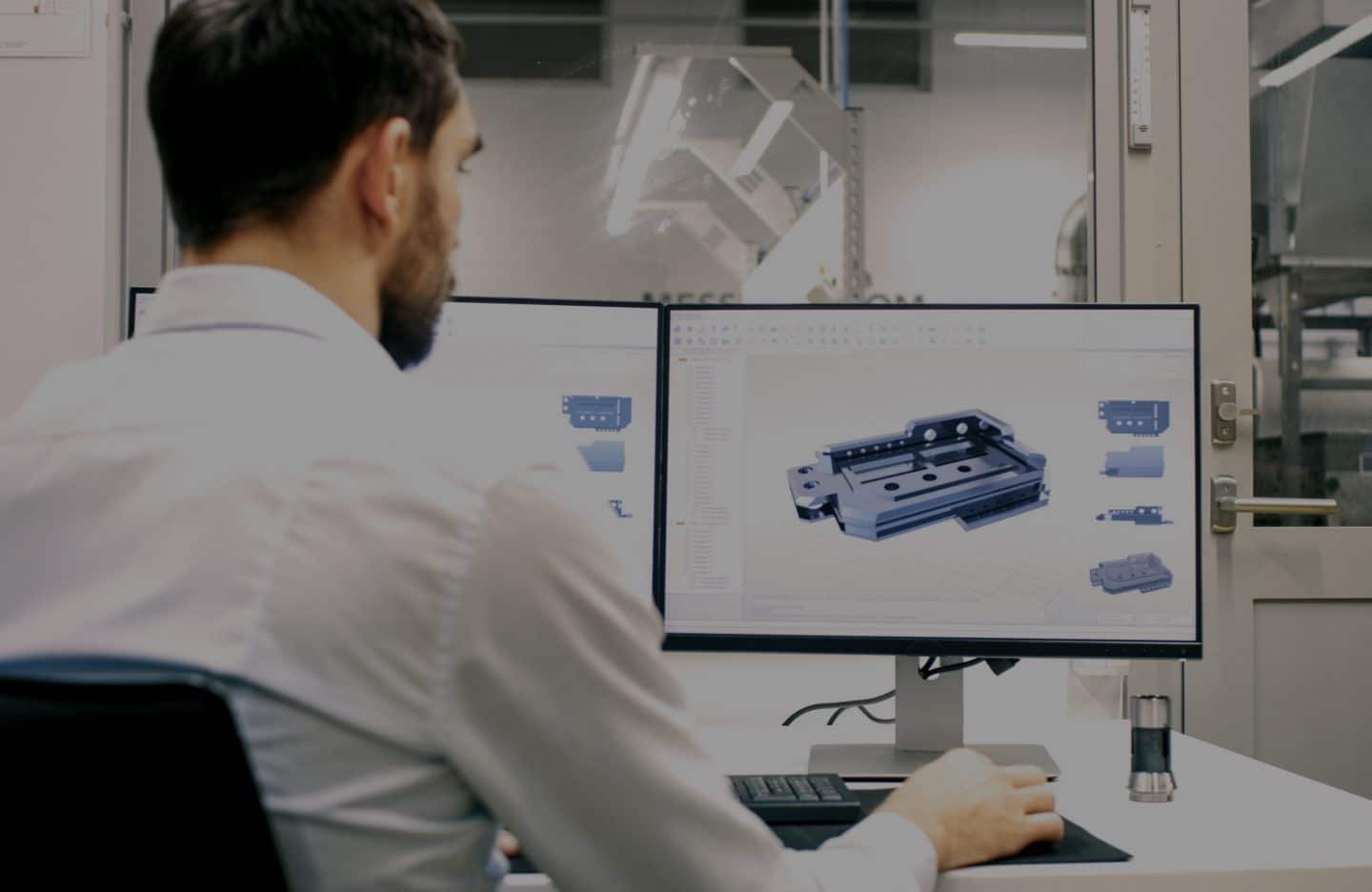 Engineer designs optimal component for customers