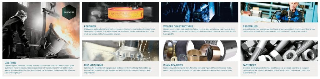 Processes of our techniques. Overview in our new brochure.